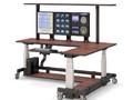 Компьютерный стол угловой с полкой и электроприводом STOLL-R - купить по цене производителя продажа от производителя