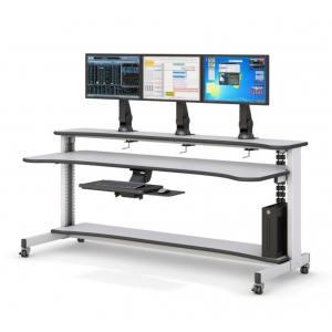Компьютерный стол для 3 мониторов с электроприводом STOLL-R - купить по цене производителя