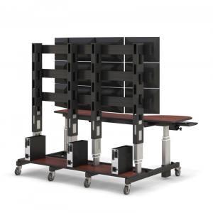 Стол-стойка видеонаблюдения на 2 рабочих места