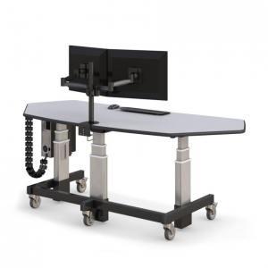 Компьютерный стол профессиональный с подъемным механизмом, 2 монитора - купить по цене производителя