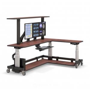 Компьютерный стол угловой с полкой и электроприводом STOLL-R - купить по цене производителя