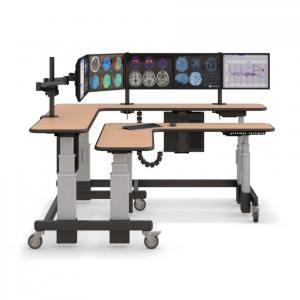 Стол угловой двухуровневый с электроприводом STOLL-R - купить по цене производителя