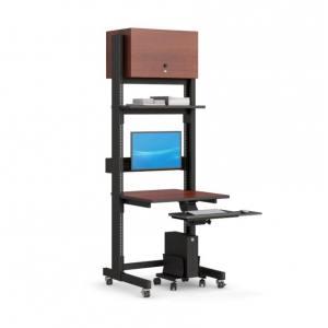 Компьютерная стойка для ограниченных рабочих пространств.