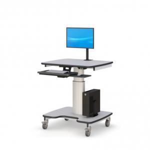 Компьютерная тележка с электронной регулировкой высоты