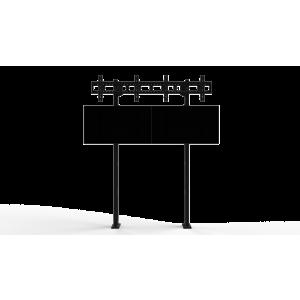 Напольно-настенное крепление для видеостены Базовый кронштейн 2х2