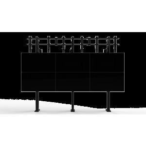 Напольно-настенное крепление для видеостены Откидной кронштейн 3х3