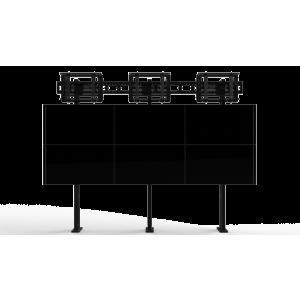 Напольно-настенное крепление для видеостены Push кронштейн 3х3